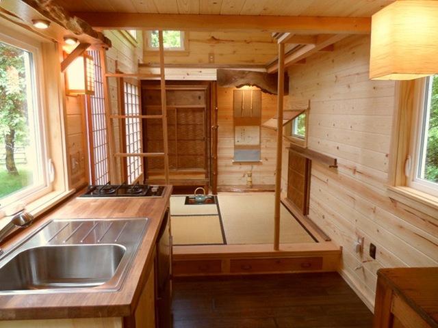 Hiếm khi thấy đèn chùm được sử dụng trong nhà của người Nhật.