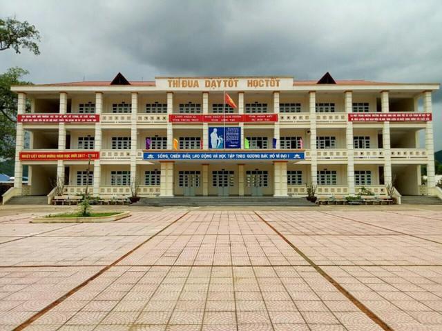 Trường PTDT nội trú Bình Liêu, nơi thầy Cường từng công tác. Ảnh: V.Dũng