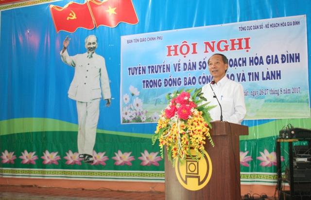 Ông Trần Tấn Hùng – Phó trưởng Ban Tôn giáo Chính phủ phát biểu khai mạc hội nghị.