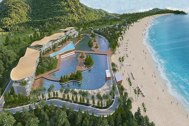 Dự án khu nghỉ dưỡng cao cấp Furama Vân Hải, trên đảo Quan Lạn, huyện Vân Đồn quy mô khách sạn đẳng cấp 5 sao, tổng vốn đầu tư gần 1.200 tỷ đồng.
