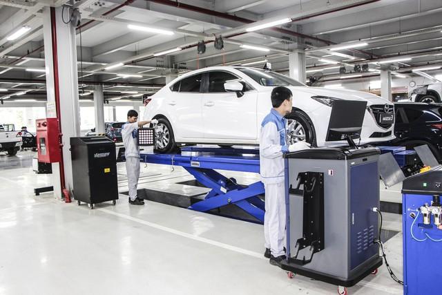 Xưởng dịch hiện đại, chuyên nghiệp góp phần tạo nên thương hiệu Mazda Phạm Văn Đồng.
