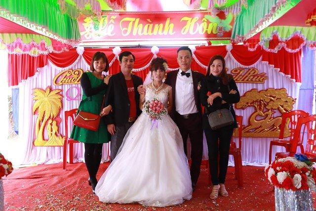 Đám cưới chị Hiền, anh Tĩnh khiến nhiều người ngưỡng mộ, nể phục (ảnh nhân vật cung cấp)