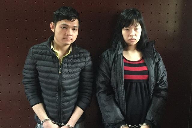 Chung và Kim Anh tại cơ quan điều tra