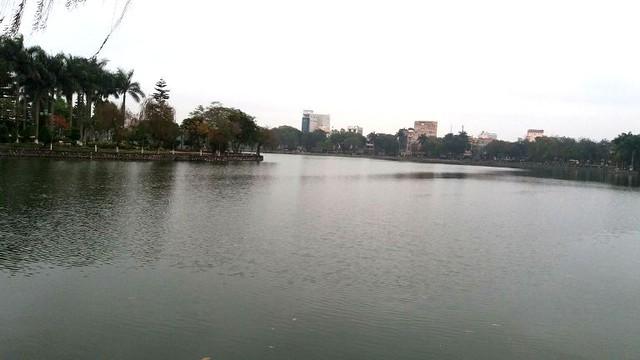Khu vực hồ Bạch Đằng, nơi vận động viên Phái gặp nạn. Ảnh: Đ.Tuỳ