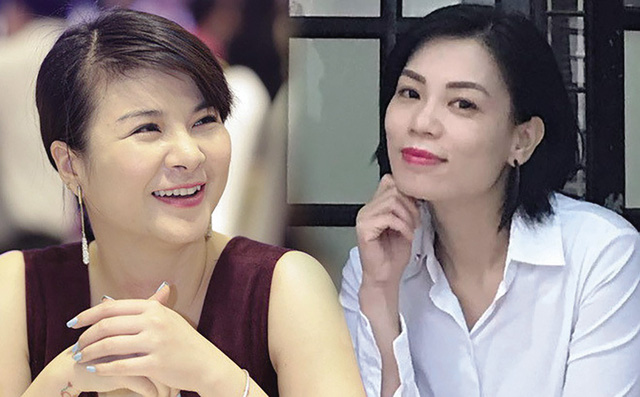 Diễn viên Kim Oanh (trái) và giảng viên Nguyễn Hồng Nhung. Ảnh: TL