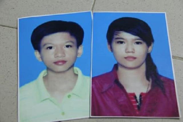 Bé Nguyễn Thị Thùy Trang (SN 2002) và Nguyễn Tuấn Anh (SN 2004) mất tích cùng một ngày. Ảnh: Nguyễn Hảo