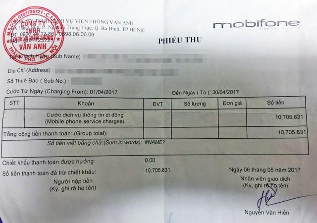 """Khách hàng """"tố"""" bị Mobifone thu cước 2 lần/tháng"""