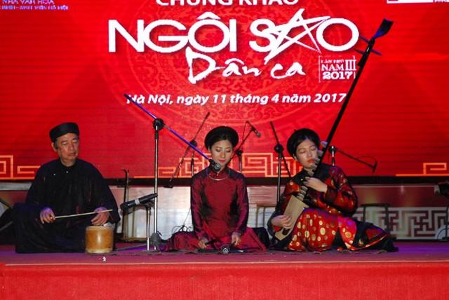 Thí sinh Đặng Thị Hường – giải Nhất Ngôi sao dân ca 2017