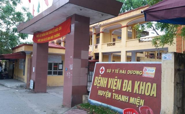 Bệnh viện Đa khoa huyện Thanh Miện, nơi nữ sinh P đang nằm điều trị. Ảnh: Đ.Tuỳ