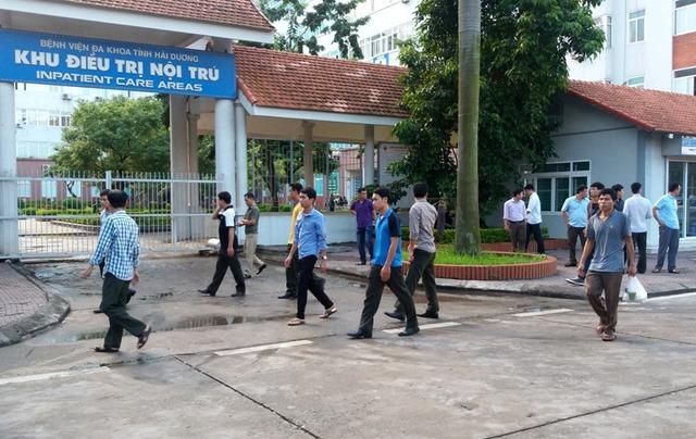 Khoa ngoại 2, Bệnh viện Đa khoa tỉnh Hải Dương nơi cháu Cảnh được chuyển về điều trị chiều nay (16/10). Ảnh: Đ.Tùy