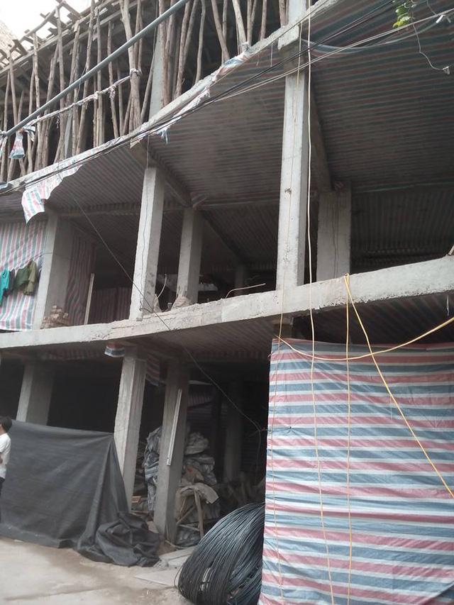Công trình xây dựng của ông Tuấn bị người dân tố cáo có nhiều sai phạm trong xây dựng