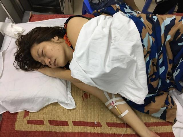 Chị Th. hiện đang được điều trị tại Khoa nội 1 - Bệnh viện Việt Tiệp Hải Phòng. Ảnh: TG
