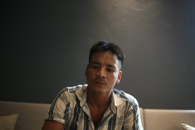 Anh Nguyễn Văn Hân trong buổi tâm sự với PV. Ảnh: NT