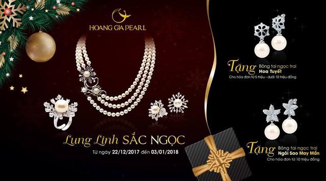 Tặng phẩm đặc biệt của ngọc trai Hoàng Gia Pearl mùa lễ hội cuối năm