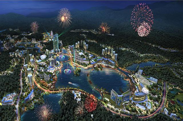Dự án Khu công viên phức hợp nghỉ dưỡng giải trí cao cấp có casino quy hoạch trên diện tích 71ha với các phân khu chức năng.