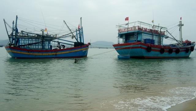 Những ngày này, nhiều tàu cá ở Quảng Bình ra khơi đón tết. Ảnh: M.K
