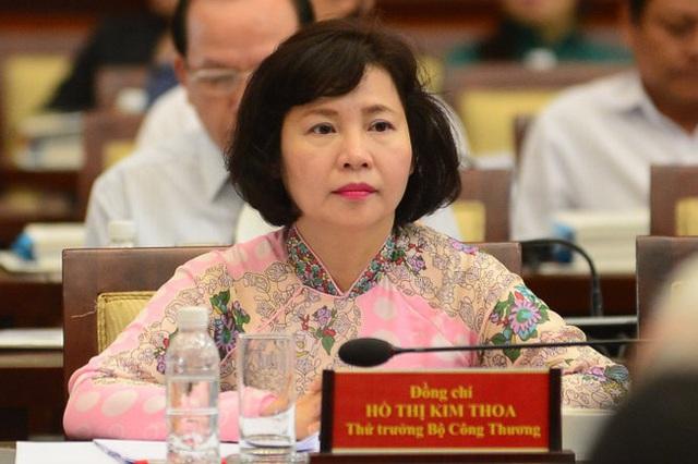 Thứ trưởng Bộ Công thương Hồ Thị Kim Thoa. Ảnh:TL