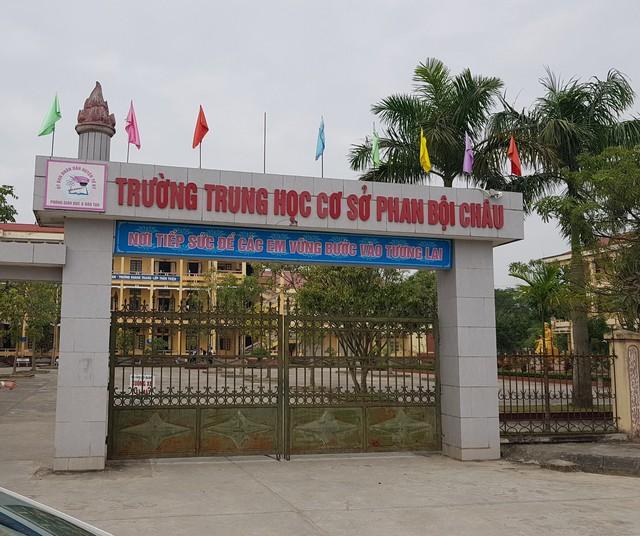 Trường THCS Phan Bội Châu để xảy ra nhiều sai phạm trong dạy thêm, học thêm. Ảnh: Đ.Lực