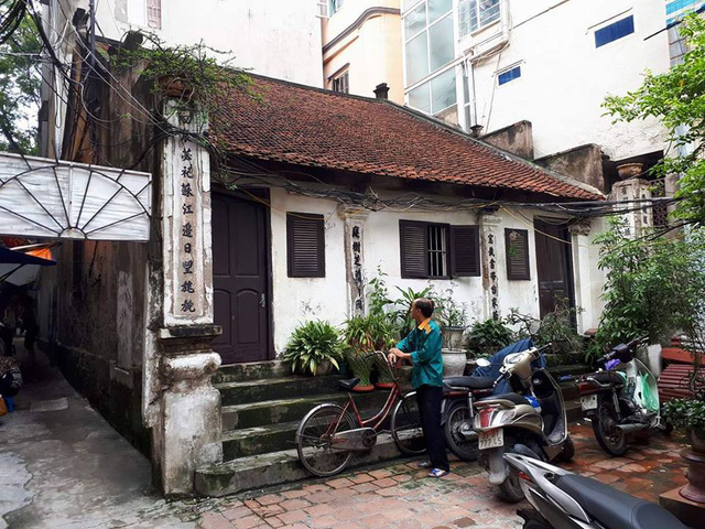 Mảnh đất nơi có nhà thờ tổ họ Nguyễn đang xảy ra việc khiếu nại. Ảnh: H.Chi