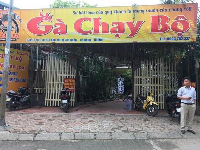 Nhà hàng gà chạy bộ nơi phát hiện ra vụ việc. (ảnh: HC)