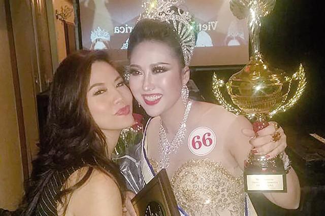 Cựu người mẫu, diễn viên Phi Thanh Vân gây sốc dư luận khi đăng quang Hoa hậu Doanh nhân Thế giới người Việt 2017. Ảnh: TL