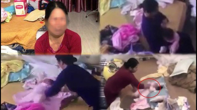 Người giúp việc có hành vi bạo hành tung hứng bé gái 2 tháng tuổi ở Phủ Lý (Hà Nam).Ảnh:TL