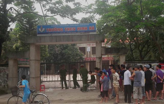 Trường THCS Ninh Xá nơi xảy ra vụ án mạng. Ảnh TL