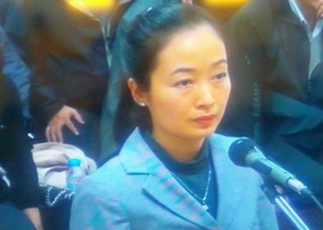 Bị cáo lê Thu Thủy tại tòa. (ảnh: TG)