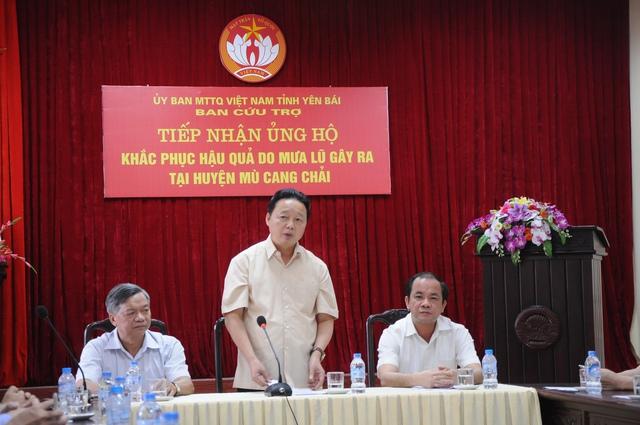 Bộ trưởng Trần Hồng Hà làm việc với tỉnh Yên Bái. Ảnh:TL