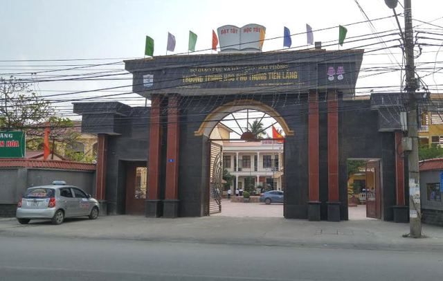 Trường THPT Tiên Lãng, nơi em L theo học. Ảnh: H.Hoan