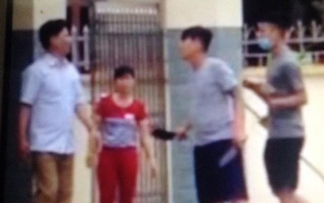 5 người thân anh Hiến và 1 người hàng xóm bị nhóm côn đồ cầm hung khí truy sát. Ảnh: (Cắt từ clip)