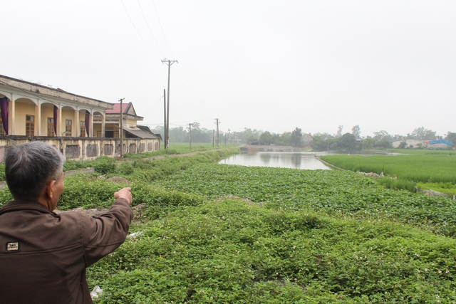 Khu mương nước thuộc cánh đồng Bàu đã được xã Đồng Hóa bán đấu giá.