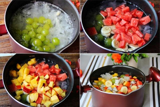 Món chè trái cây nhiều vitamin, giúp tăng cường sức đề kháng. Ảnh: T.G