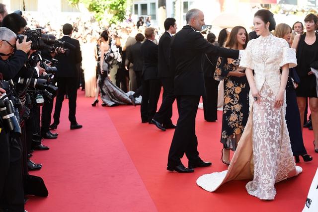 Người đẹp Lý Nhã Kỳ trên thảm đỏ LHP Cannes. Ảnh: TL