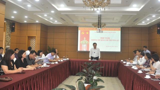 Hội nghị thông tin báo chí thường kỳ do Ban Tuyên giáo tỉnh Quảng Ninh tổ chức. Ảnh: N.Hương