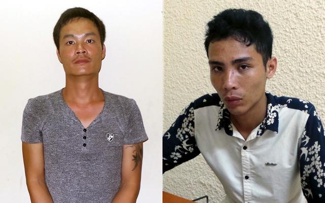 Hai nghi phạm Giang (trái) và Quân.