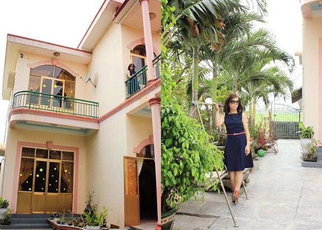 Căn nhà của Di Yến Quỳnh nổi bật nhất so với những ngồi nhà lân cận. Ngôi nhà được thiết kế theo phong cách sân vườn thoáng mát và rất trẻ trung.