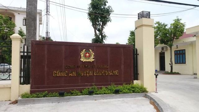 Trụ sở Công an huyện Bình Giang, nơi đại uý Thành công tác. Ảnh: Đ.Tuỳ
