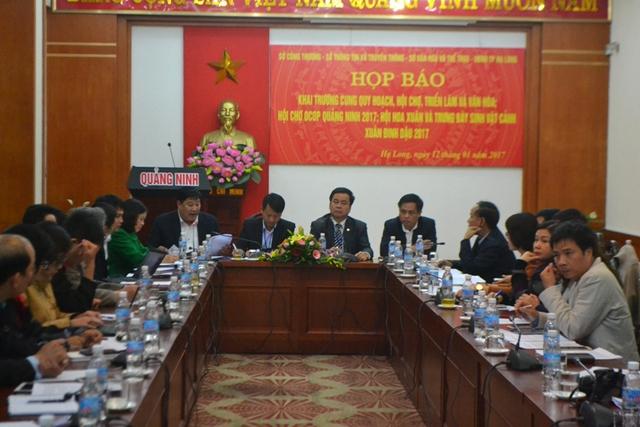 Tỉnh Quảng Ninh tổ chức họp báo chiều nay 12/1. Ảnh: Đ.Tuỳ