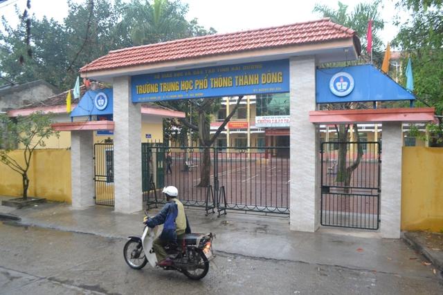 Trường THPT Thành Đông, nơi nữ sinh V theo học. Ảnh: Đ.Tuỳ