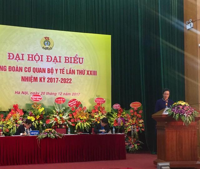 Bà Phạm Thanh Bình phát biểu tại Đại hội. Ảnh: Minh Châu