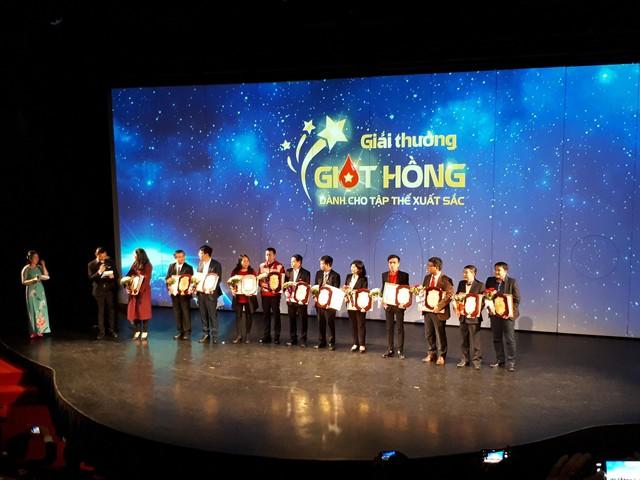 Các tập thể nhận giải thưởng Giọt hồng năm 2017