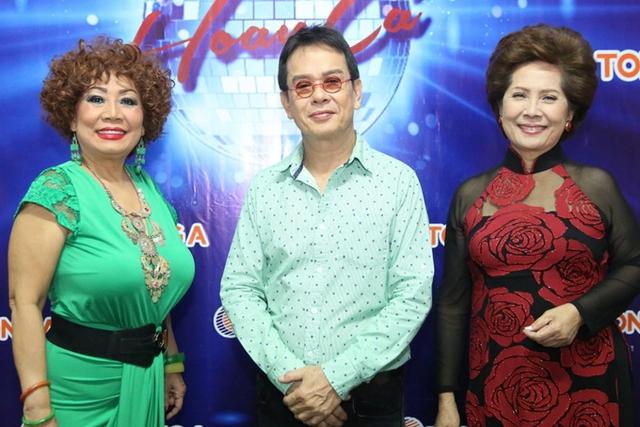 Các giám khảo Tuyết Loan, Đức Huy, Phương Dung.