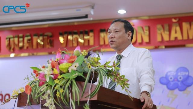 Ông Vũ Thành Đông, Phó Tổng cục trưởng Tổng cục DS-KHHGĐ phát biểu tại lễ phát động.