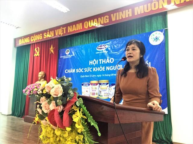 Bà Nguyễn Minh Tâm – Giám đốc Chi nhánh Vinamilk tại Hà Nội phát biểu tại hội thảo.