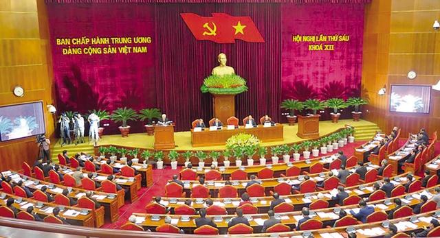 Sáng 4/10, Hội nghị Trung ương 6 khóa XII đã khai mạc dưới sự chủ trì của Tổng Bí thư Nguyễn Phú Trọng.     Ảnh: HH