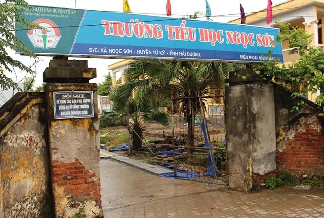 Trường tiểu học Ngọc Sơn, nơi xảy ra đơn tố cáo nặc danh phó hiệu trưởng sai sự thật. Ảnh: Đ.Tuỳ