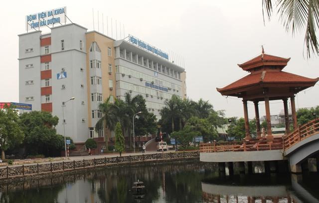 Bệnh viện Đa khoa tỉnh Hải Dương, nơi xảy ra sự việc bệnh nhân L. tự tử. Ảnh: Đ.Tùy