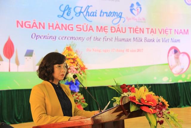 BS Ngô Thị Kim Yến, Giám đốc Sở Y tế TP Đà Nẵng phát biểu tại lễ khai trương. Ảnh: Đức Hoàng