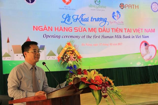Ông Trần Đăng Khoa, Phó Vụ trưởng Vụ Sức khỏe Bà mẹ - Trẻ em (Bộ Y tế) phát biểu tại lễ khai trương. Ảnh: Đức Hoàng